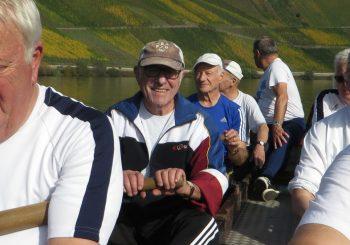 Elf Rudersenioren auf Barkenfahrt auf der Mosel vom 16. bis 18. Oktober