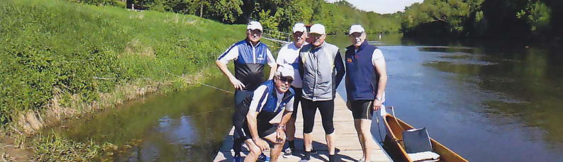 Donnerstag-Gruppe der Binger RG zur Wanderfahrt auf Unstrut und Saale